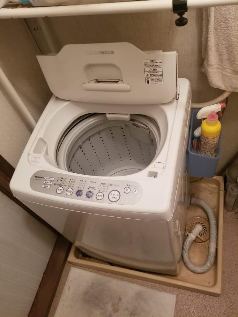 つくば市の洗濯機排水詰り