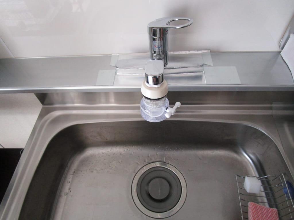 常総市にて台所の氾濫