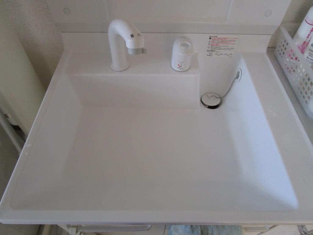 笠間市の修理案件(洗面漏水)