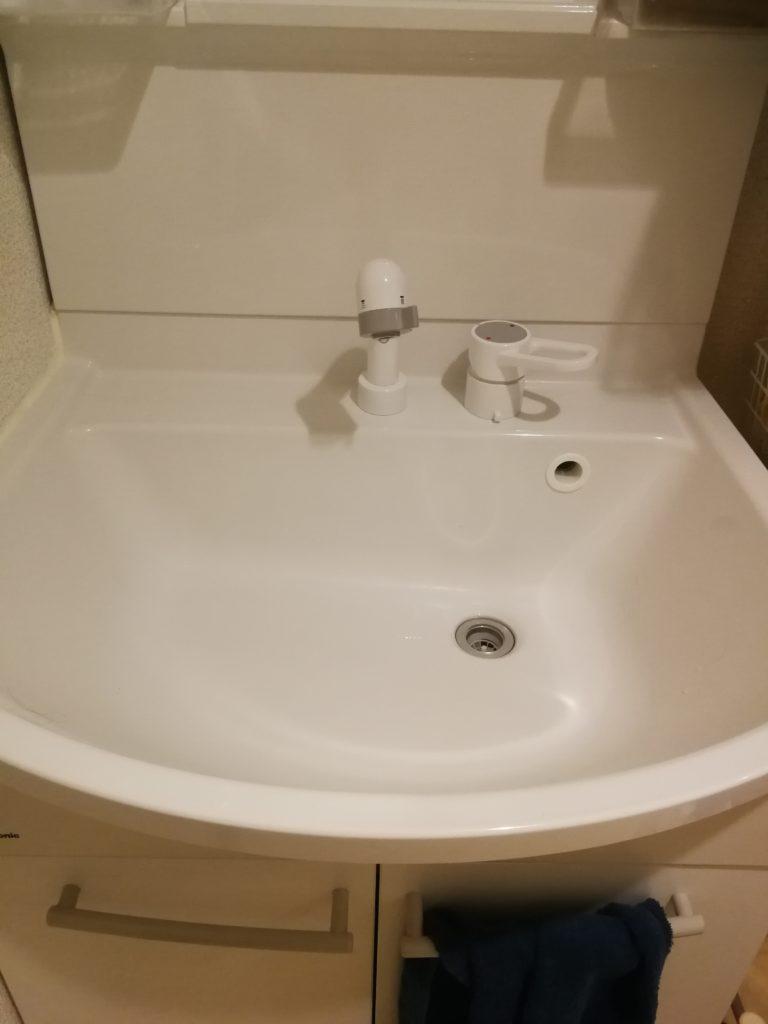 水戸市の洗面所水漏れ