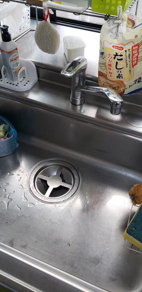 鹿嶋市でキッチンの排水つまり解決事例
