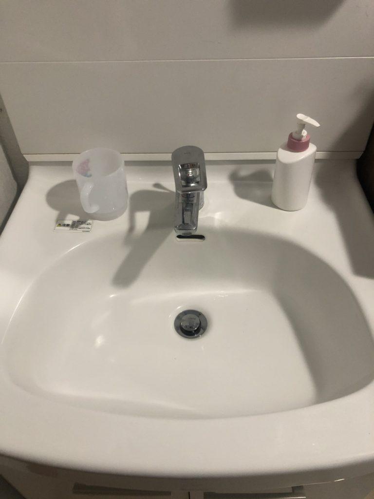 日立市で洗面所のつまり解決事例