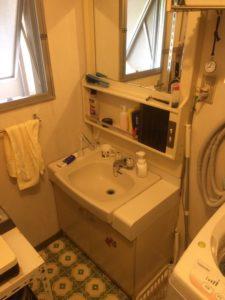 洗面の排水水漏れ