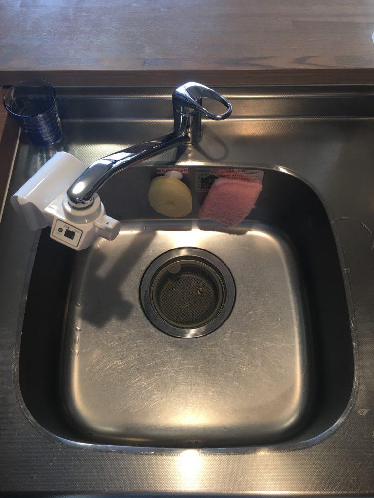 結城市で台所蛇口水漏れ修理の施工事例