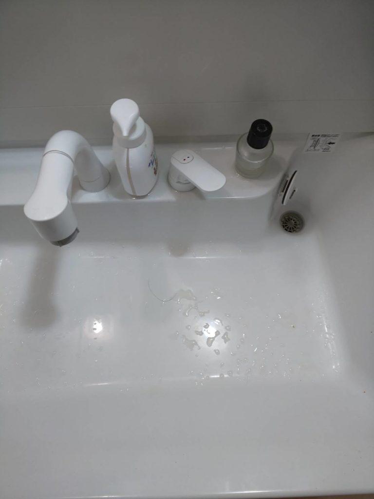 磐田市で洗面の排水つまりトラブルを解決しました。