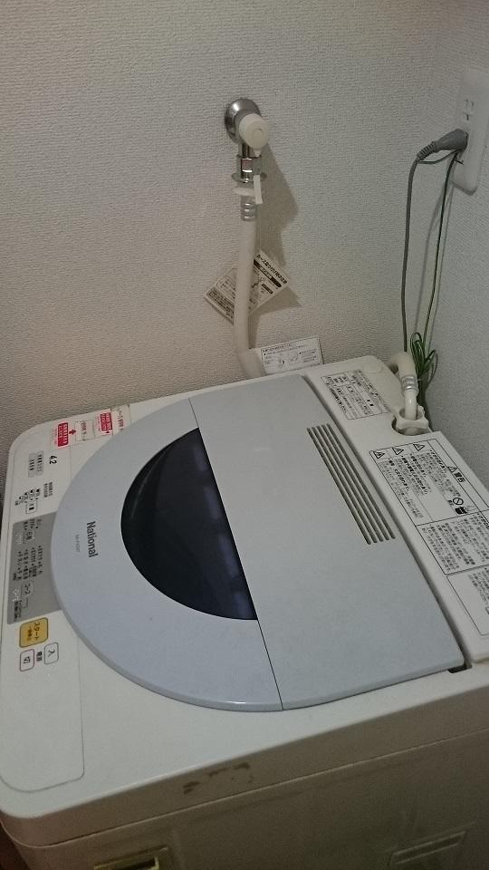 龍ケ崎市で洗濯機の排水つまり修理を行いました。