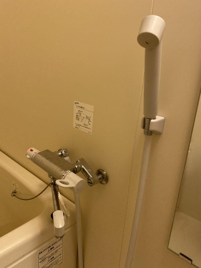日立市で浴室の混合水栓水漏れ修理を行いました。