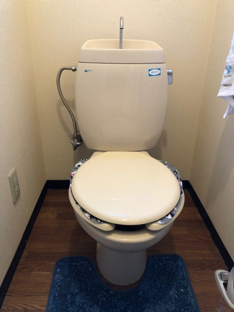 取手市でトイレの水漏れ修理を行いました。