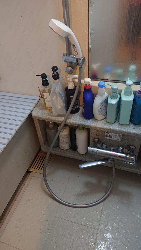 下妻市で浴室排水つまり解決事例