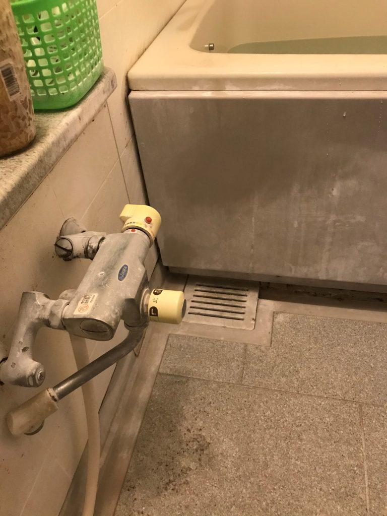 阿見町でお風呂の蛇口水漏れ修理を行いました。