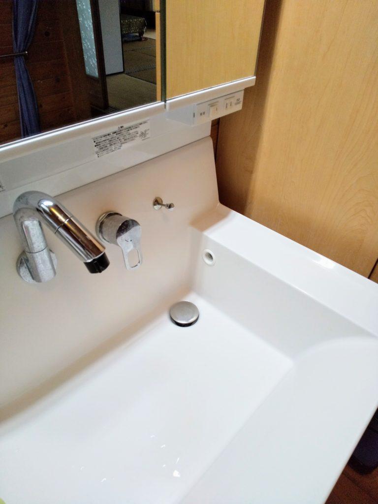 茨城県石岡市で洗面蛇口の水漏れ修理事例