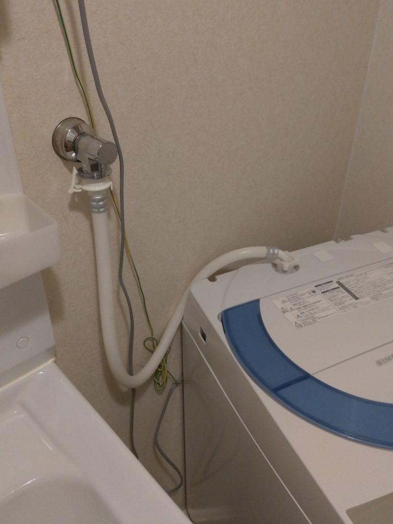 茨城県取手市で洗濯蛇口の水漏れ修理を行いました。